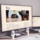 Bildschirm und Laptop mit Website - basisinvest