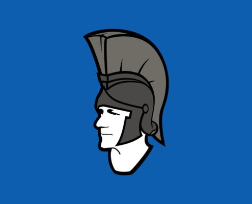 Logo - The Big Greek mit Spartanerhelm