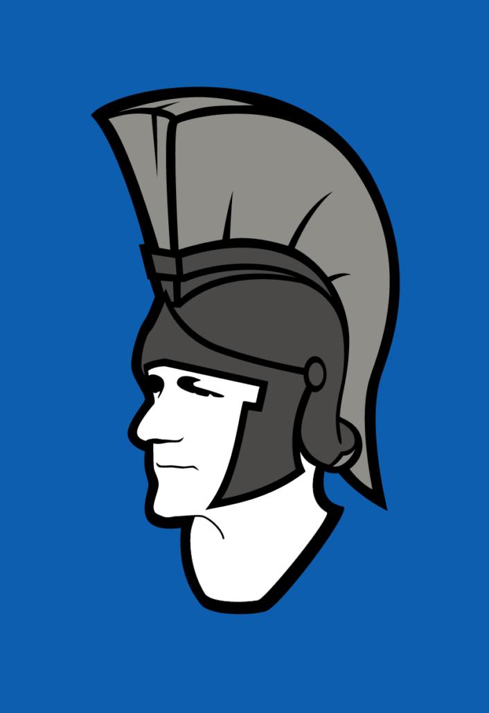 Logo - The Big Greek mit Spartanerhelm groß