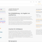 Screenshot Website Schlafabklärung - usterMedhno