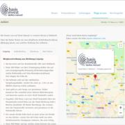 Screenshot Website Anfahrt - basisinvest