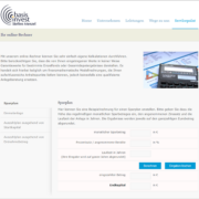 Screenshot Website online-Rechner - basisinvest