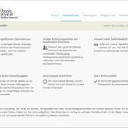 Screenshot Website Ihre Vorteile - basisinvest