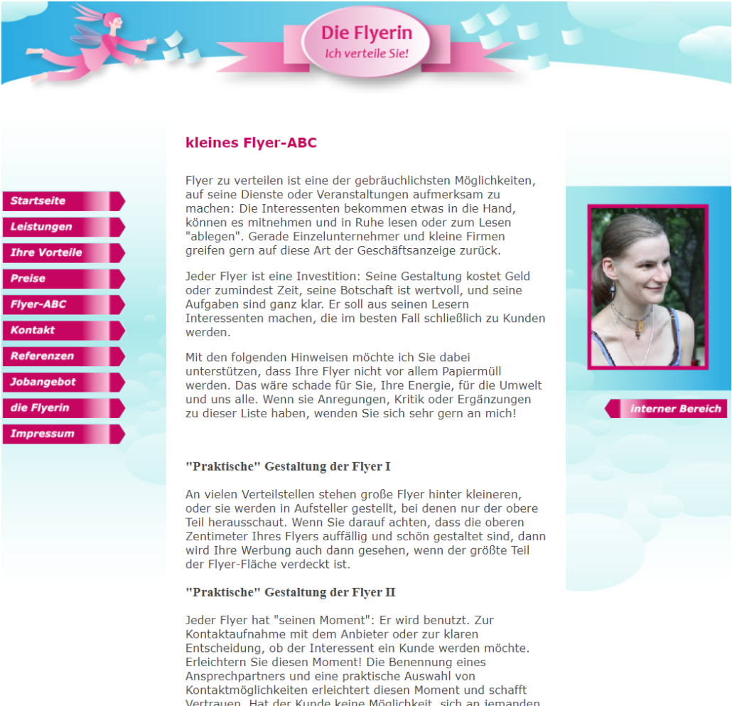 Screenshot Website Flyer-ABC - DieFlyerin